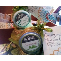 2-Piece Emergency Salve Mini Gift Set (hand-made 95%+ certified organic content)