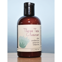 Three Tea Facial Cleanser [naturally unscented] (70%+ certified organic content)
