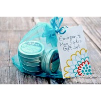5-Piece Emergency Salve Mini Gift Set (hand-made 70-95%+ certified organic content)