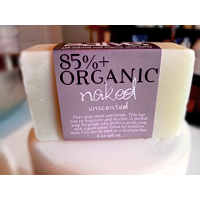 NAKED (Unscented) [85%+ Organic Bar Soap]